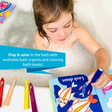 BabyBibi Color Me Bath Books + Crayons