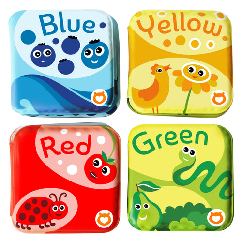 BabyBibi Floating Baby Bath Books: Set of 4: Color Recognition Bath Books