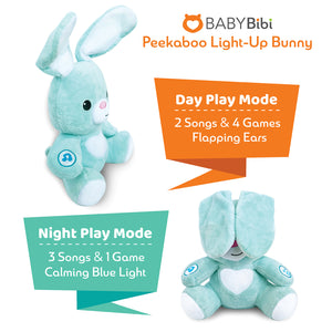 Stuffed Bunny - Interactive Soft Stuffed Peekaboo Bunny Toy, 16 inches Tall Singing Animal Toy. for Ages 6 Months to 5 Year Old