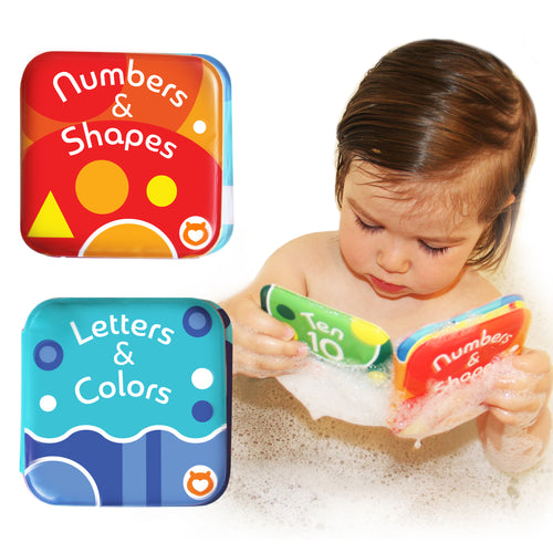Baby Bath Books, Pack of 2 by Baby Bibi: Alphabet & Numbers Books.