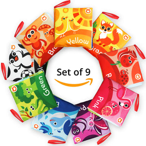 Cloth Books for Babies (Set of 9) - Color Recognition Series