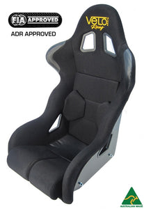 Velo Podium II Race Seat. FIA Approved, ADR Approved, Australian Made.