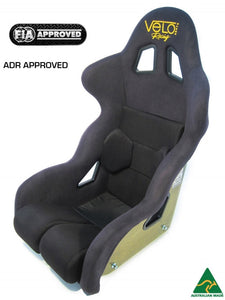 Velo Podium II Carbon Fibre Race Seat. FIA Approved, ADR Approved, Australian Made.