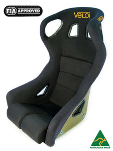 Velo Apex Carbon Fibre Race Seat. FIA Approved, Australian Made.