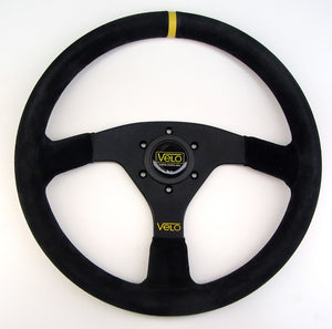 Velo R28 350mm Suede leather Steering Wheel with Horn Button