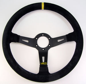 Velo R65 350mm Suede leather Steering Wheel with Horn Button