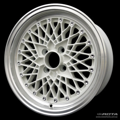Rota OS Mesh White / Polished Lip