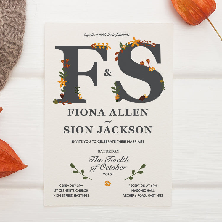 Autumnal Fall Wedding Stationery