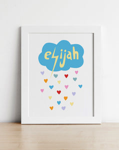 Weather Hearts Personalised Poster