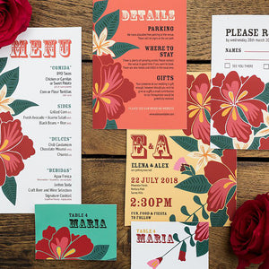 Floral Fiesta Wedding Stationery