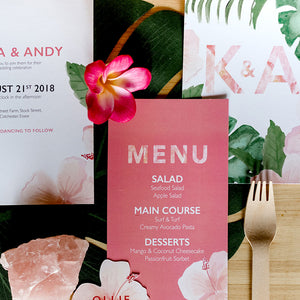 Floral Tropics Wedding Stationery