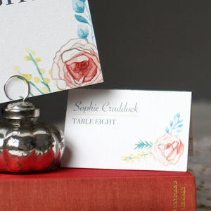 Vintage Bloom Table Place Card