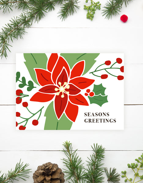 Poinsettias Christmas Cards
