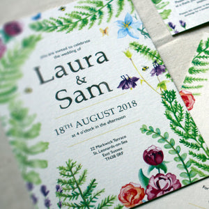 Summer Garden Wedding Stationery