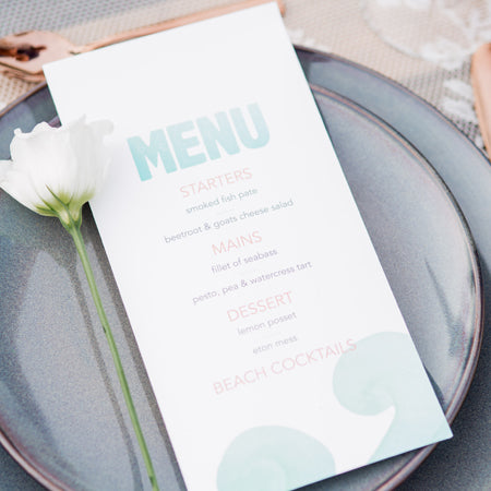 Wave Menu Card