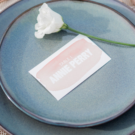 Wave Table Place Card