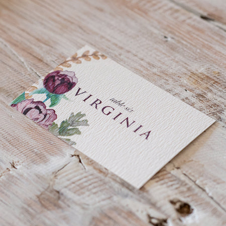 Wild Peony Table Place Card
