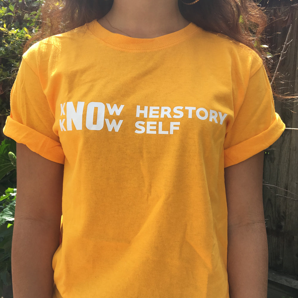 "T-Shirt: ""Know Herstory Self"""