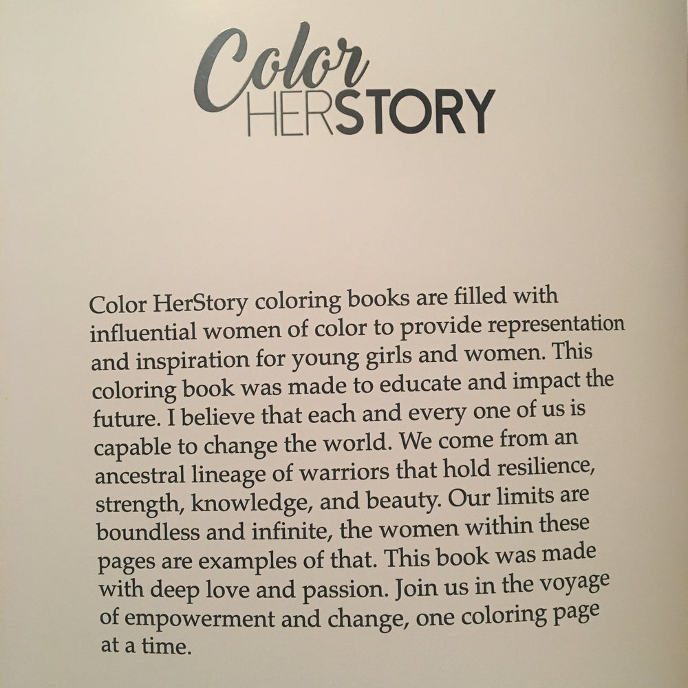 Color HerStory: Women of the World Coloring Book