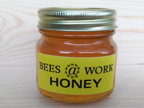 Bees @ Work Honey All Natural 100% USA Pure 12 oz. Glass Jar