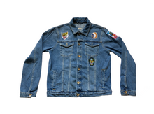 Load image into Gallery viewer, 100% Cotton Non-Stretch Denim Point collar; button front; side hem adjusters Long sleeves.