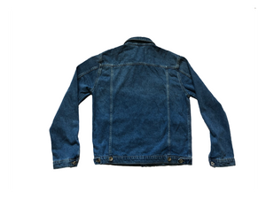 The back of the MeltingPot Jean Jacket showing the homing on great tailored jacket.