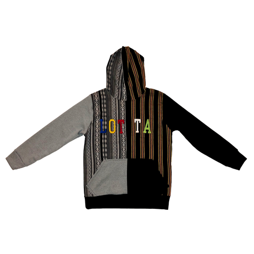 Maya Multi Color Letterman Hoodie - LOTTAWORLDWIDE