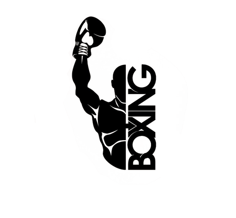 Boxing Champion Vinyl Sticker