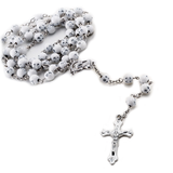 White Beaded Chain Rosary
