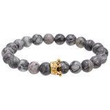 Mens Stone Crown Bracelet