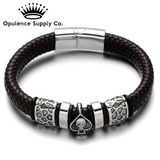 Skull Head Leather Bracelet