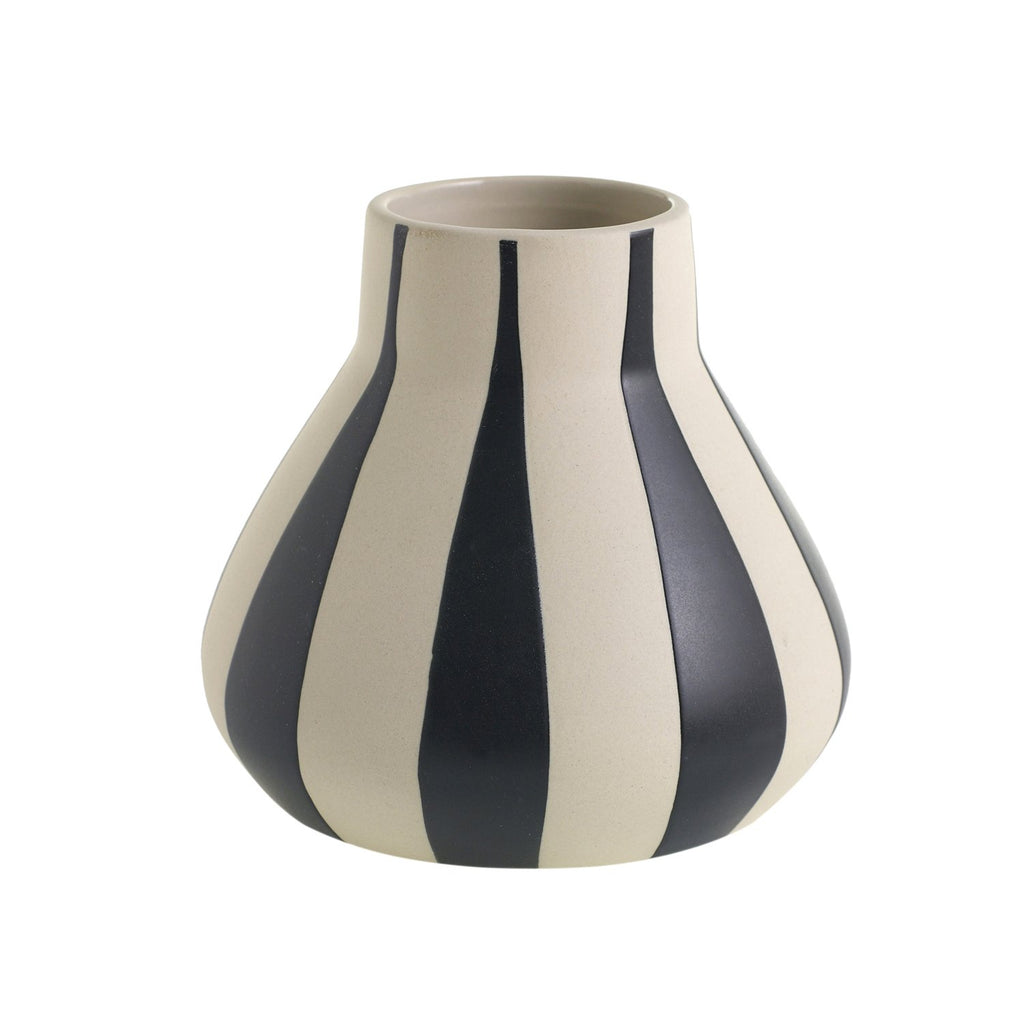 Frankel Large Stripes Vase - Accessories - Black Rooster Maison