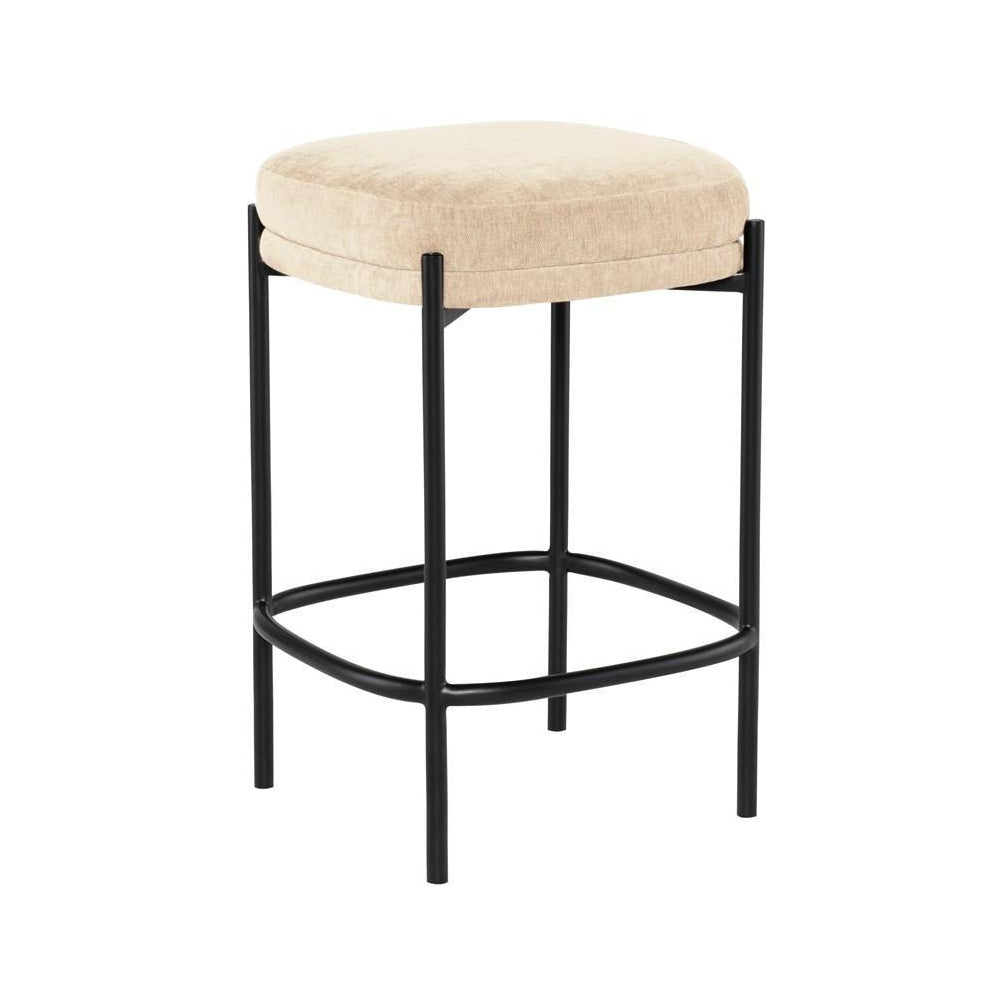Almond Backless Stool - Seating - Black Rooster Maison