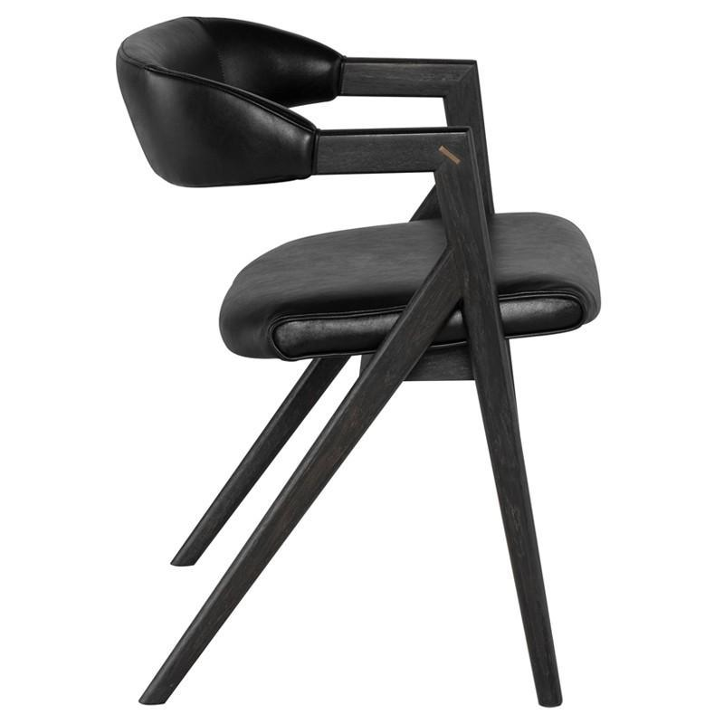 Archie Leather Chair - Black Rooster Maison