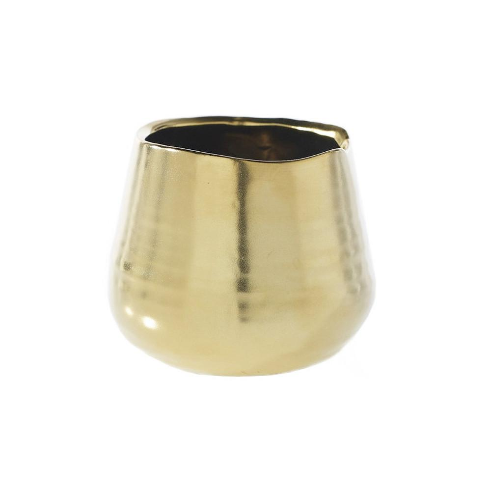 Organic Matte Gold Pot - Accessories - Black Rooster Maison
