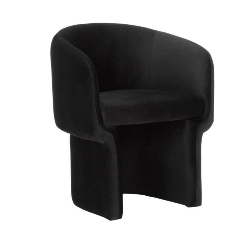 Barrel Dining Chair - Black Rooster Maison