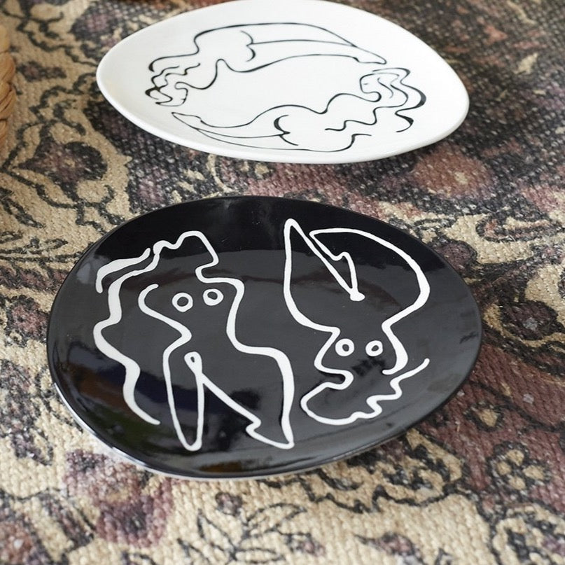 Black Curve Dish - Accessories - Black Rooster Maison