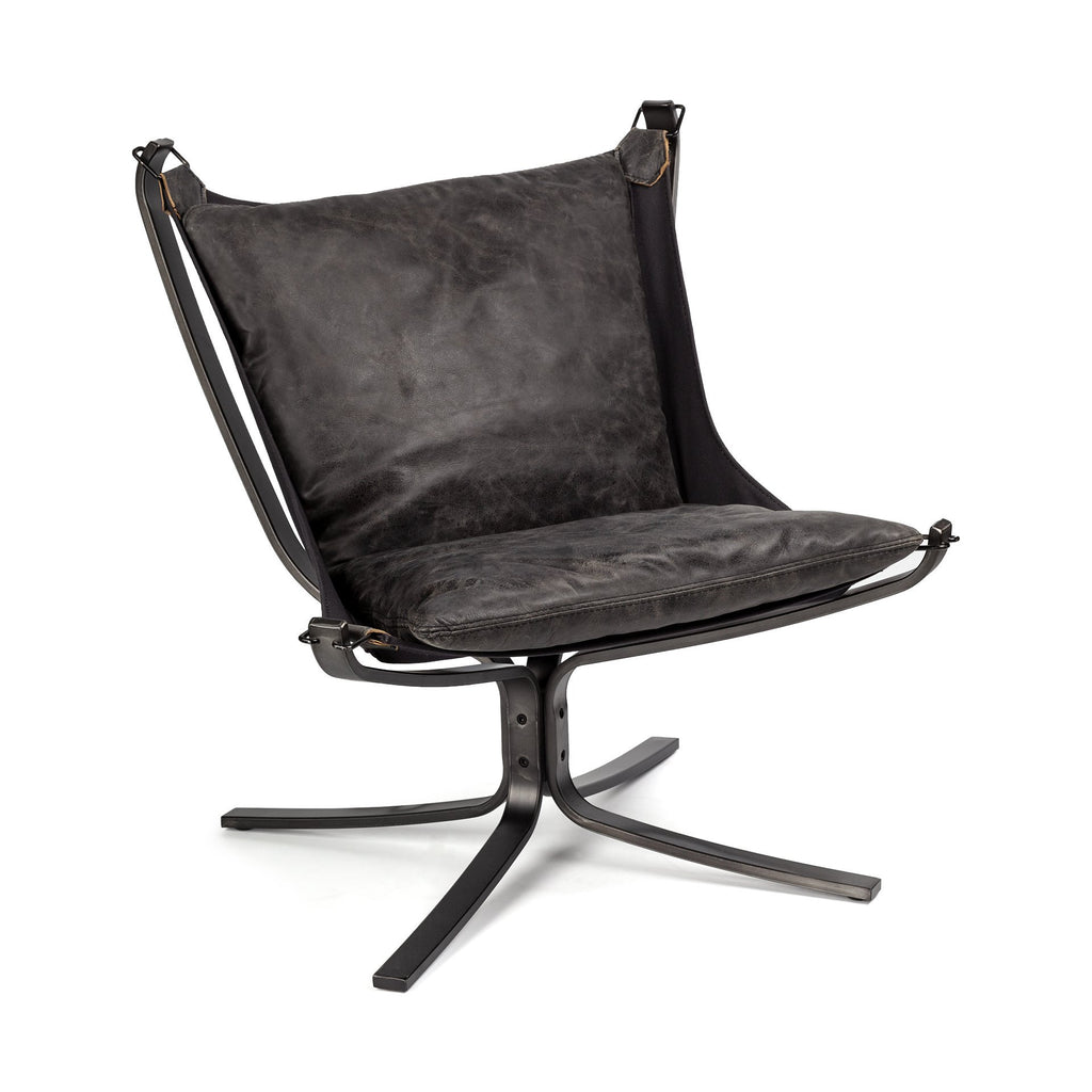Clip Leather Chair - Black Rooster Maison