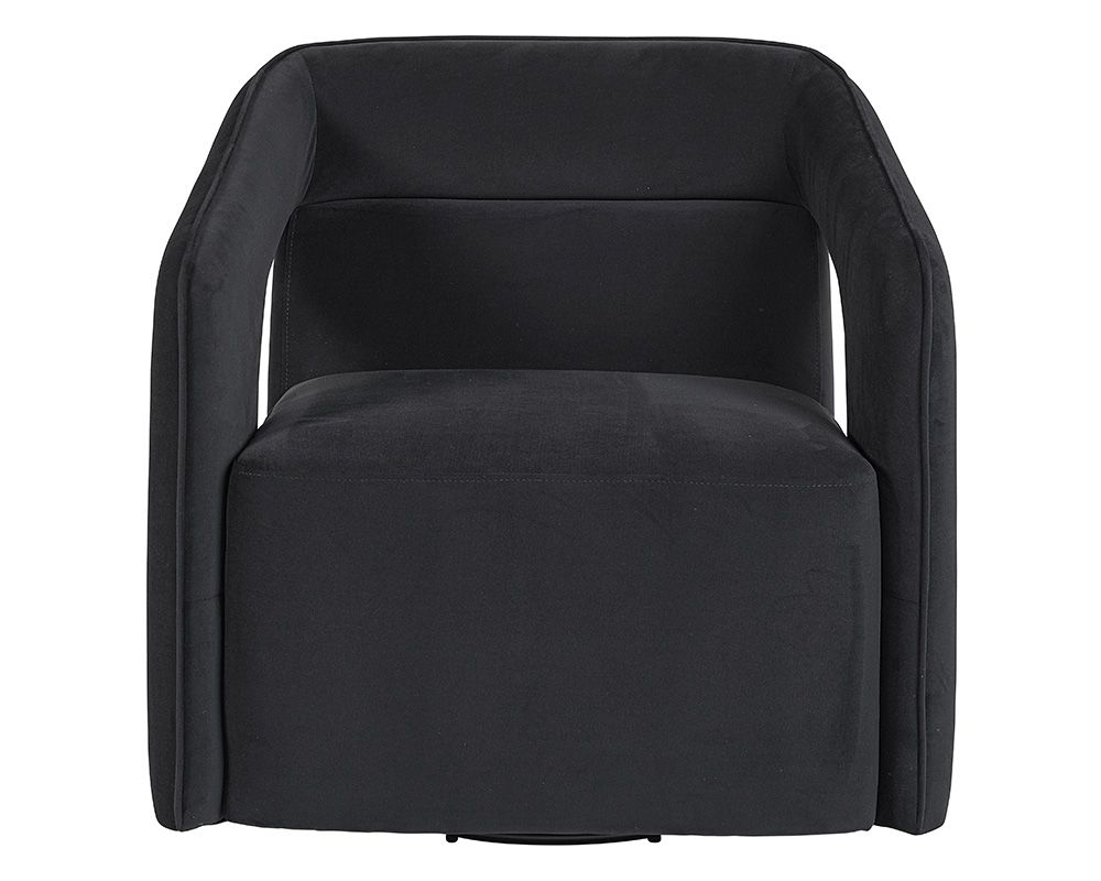 Deci Swivel Chair - Black Rooster Maison