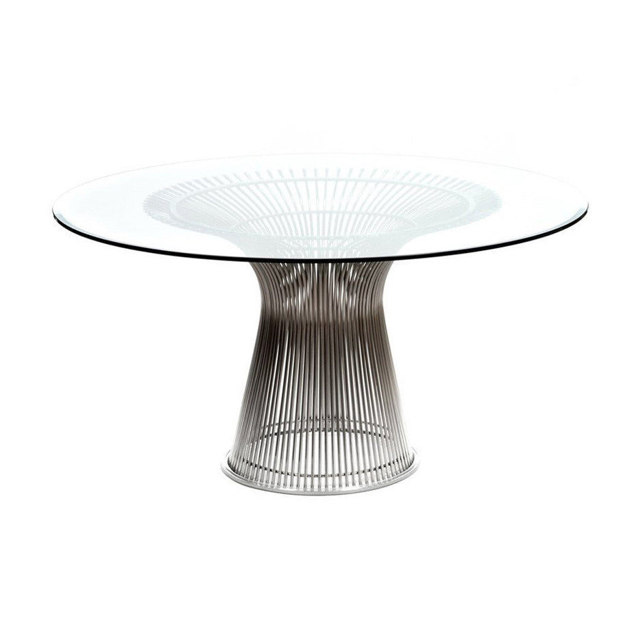Curve Nickel Dining Table - Furniture - Black Rooster Maison