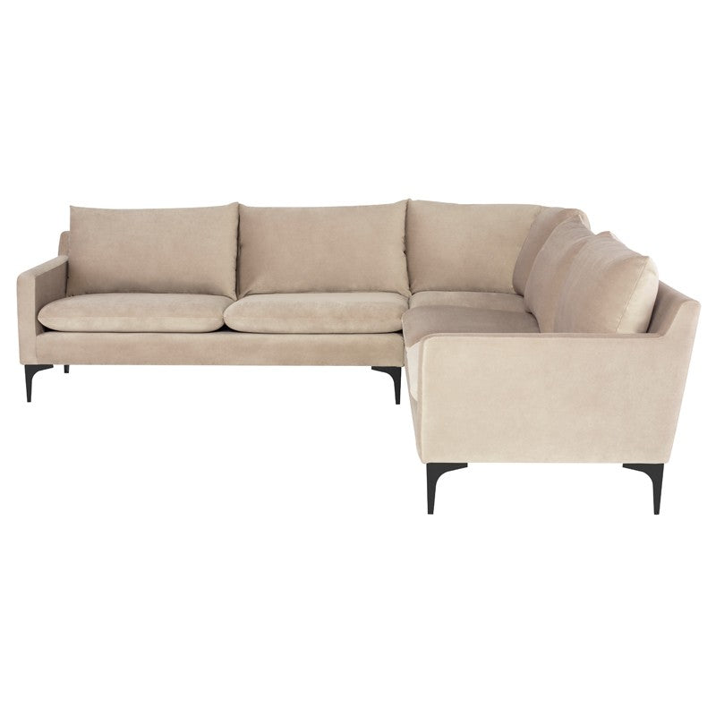 Elle Nude Sectional - Furniture - Black Rooster Maison