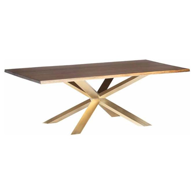 Oak Starburst Dining Table - Tables - Black Rooster Maison