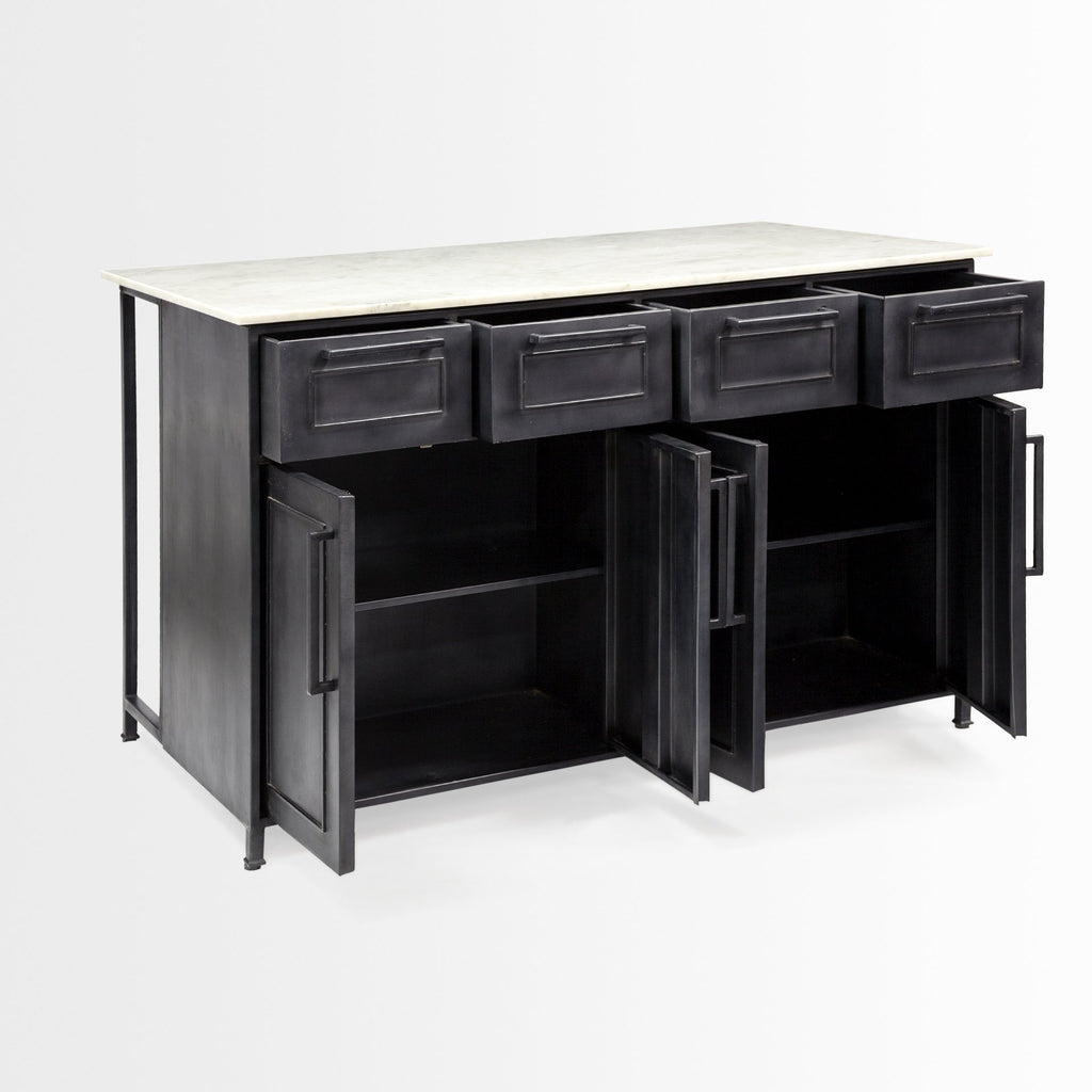 Plateau Kitchen Island - Black Rooster Maison