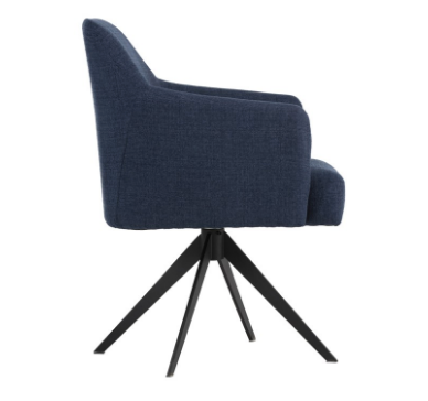 Miguel Swivel Chair - Black Rooster Maison