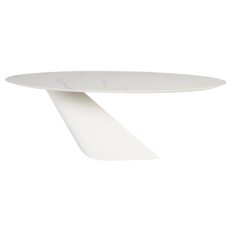 White Onyx Dining Table - Tables - Black Rooster Maison