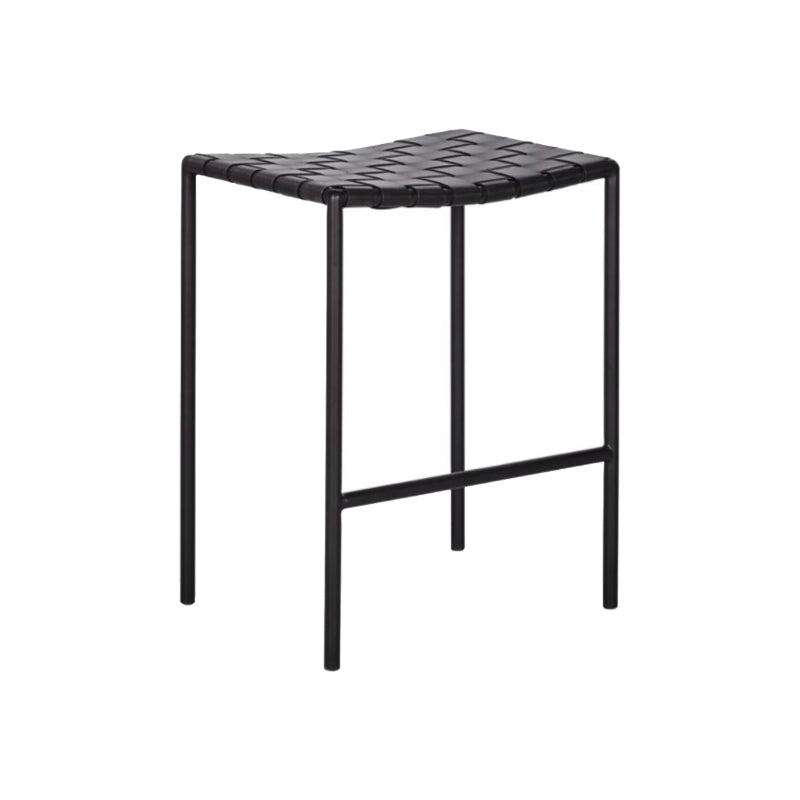 Marlo Backless Stool - Furniture - Black Rooster Maison
