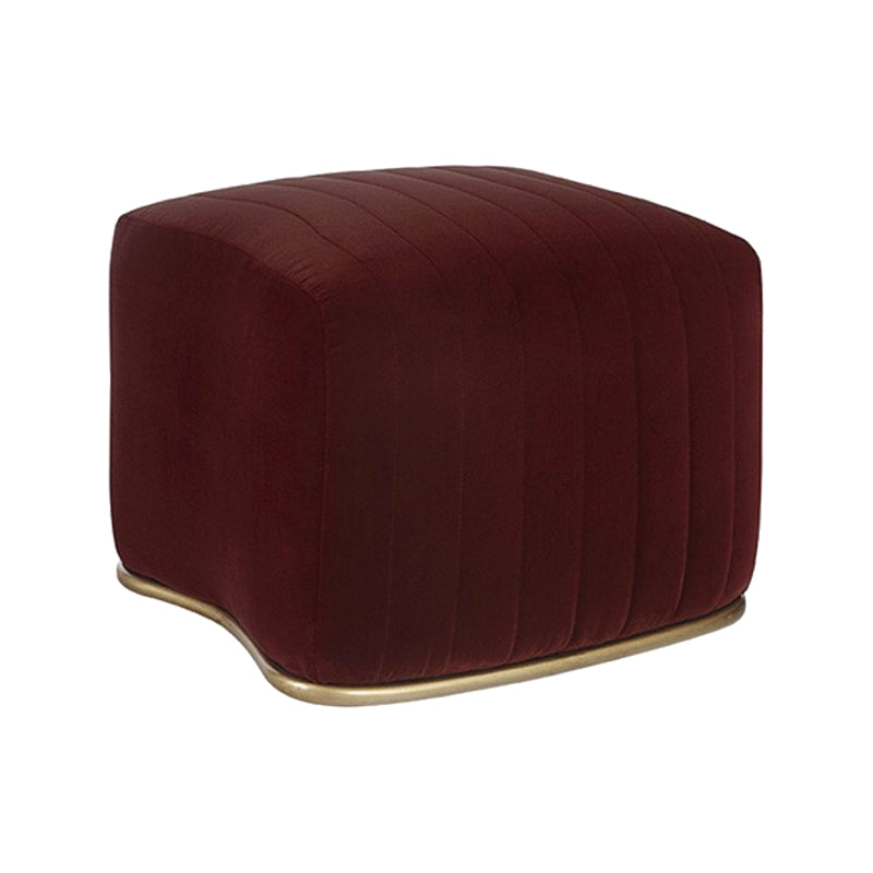 Merlot Ottoman - Furniture - Black Rooster Maison