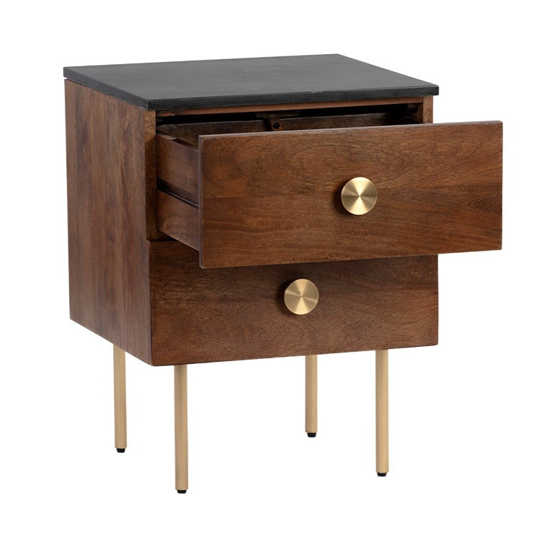 Roberts Nightstand - Storage - Black Rooster Maison