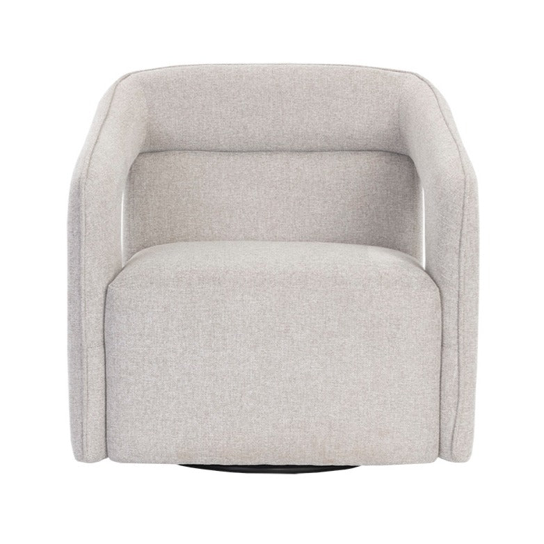 Deci Grey Swivel Chair - Black Rooster Maison