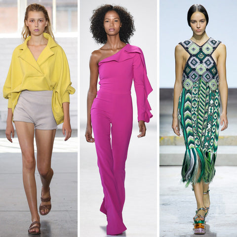 2018 Womens Fashion Trends - Bright Saturated Colors
